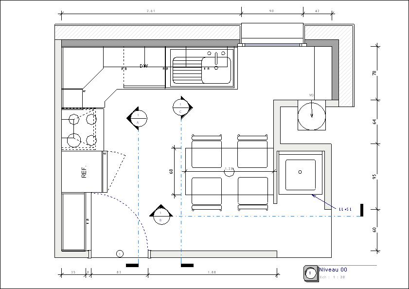 Plan amenagement cuisine acheter meuble de cuisine | Cbel cuisines